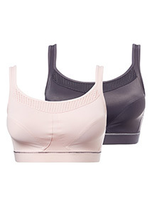 2 Pack Medium Impact Sports Bras