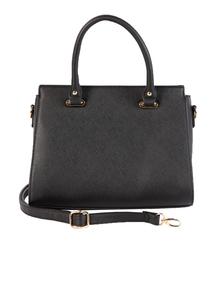 Black Classic Small Handbag With Detachable Shoulder Strap