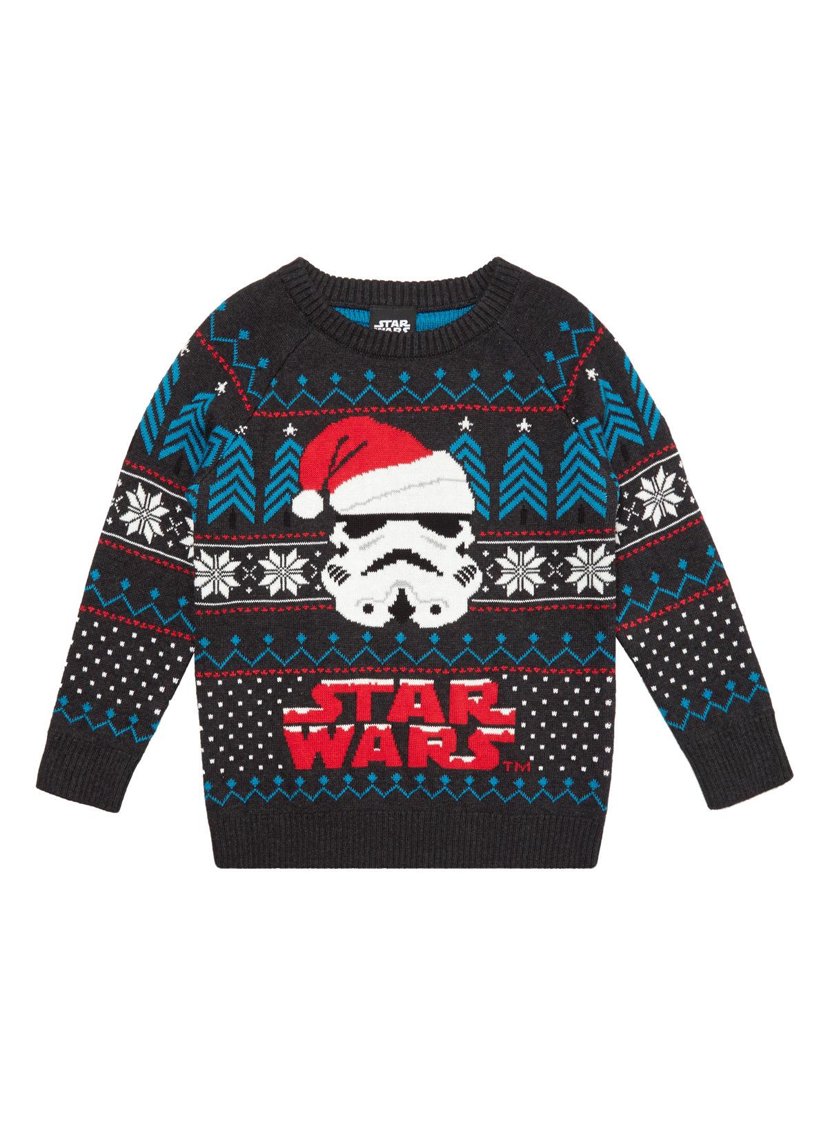All Boy's Clothing Multicoloured Star Wars Christmas Jumper (3-14 ...