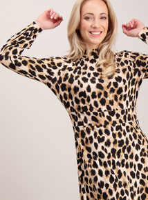 Online Exclusive PETITE Multicoloured Animal Print Jersey Dress