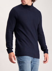 Frontman Textured Knit Roll Neck Jumper