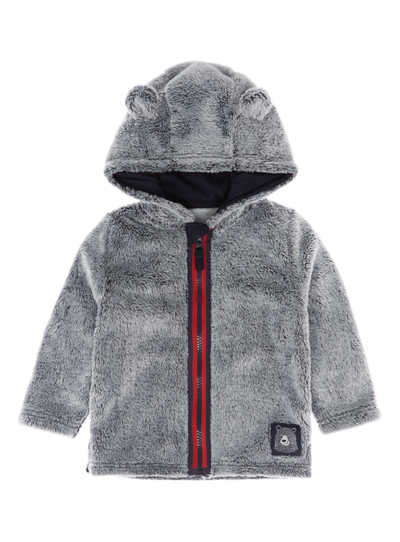 9cc55f89eb86 Baby Boys Grey Faux Fur Coat (0-24 months)
