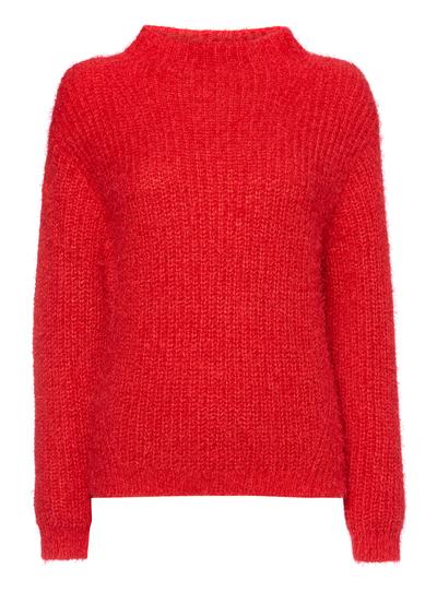 Knitting Pattern For Gruffalo Jumper : Womens Red Fluffy Knit Jumper Tu clothing