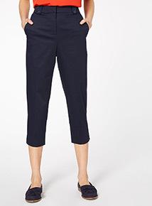 Navy Capri Trousers
