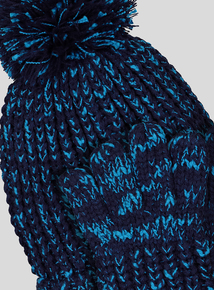Blue Twist Hat & Gloves Set (1- 13 years)