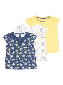 Multicoloured Tees 3 Pack (9 months-5 years)