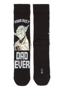 Father's Day Charcoal Star Wars Yoda Dad Socks