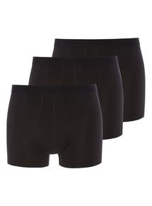 Black Plain Trunks 3 Pack