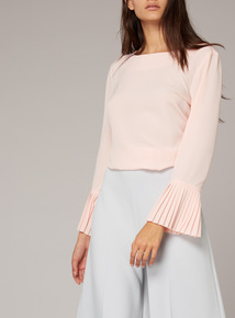 Premium Pleated Sleeve Blouse