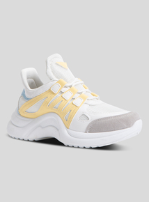 Online Exclusive White Lace Up Trainers