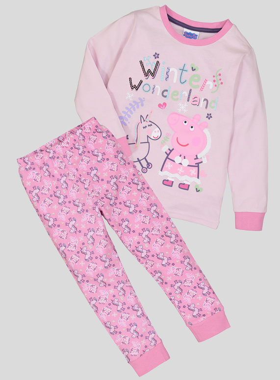 fed92d31 Kids Christmas Peppa Pig Pink Pyjamas (1 - 5 years) | Tu clothing