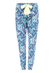 Navy Floral Printed Pyjamas Bottoms