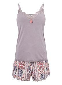 Padded Camisole and Shorts Pyjamas
