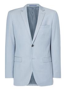 Light Blue Herringbone Jacket