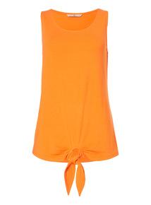 Orange Tie Front Vest