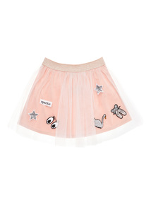 Girls Pink Tutu Skirt With Badges (3 - 12 years)