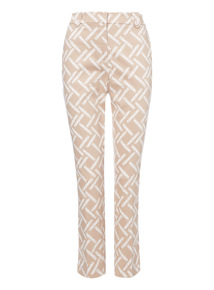Multicoloured Geometric Pattern Trousers