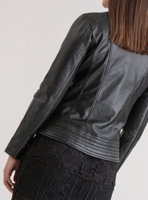 Premium Black Leather Biker Jacket