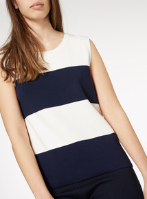 Colourblock Sleeveless Jumper