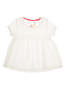 Girls White Top (9 months-6 years)