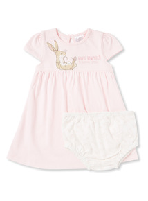 Pink 'Guess How Much I Love You' Dress and Knicker Set (Newborn-24 months)