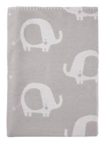 Kids White Elephant Fleece Blanket