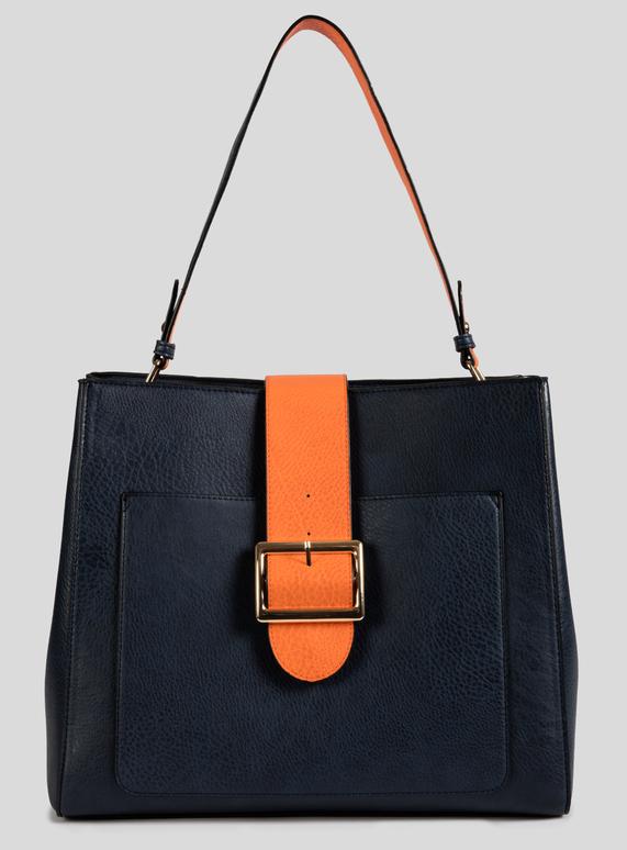 e16f251135a4 Womens Navy   Orange Shoulder Bag