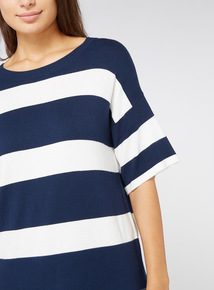 Multicoloured Striped Knit T-Shirt