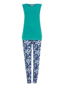 Green Floral Pyjama Set