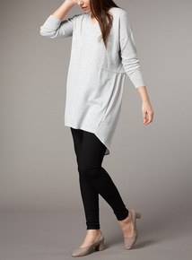 Premium Grey Marl Knit Tunic