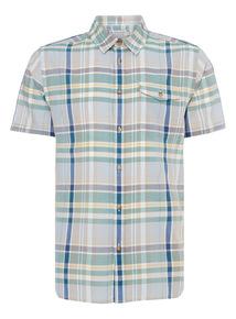 Blue Check Voile Shirt