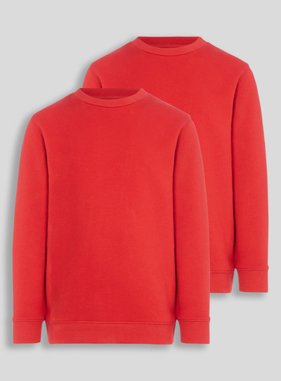 Red Crew Sweatshirts 2 Pack (3-12 years)