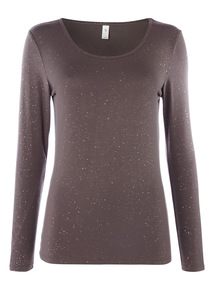 Glitter Thermal Long Sleeve Top