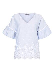 Pinstripe Shiffley Pyjama Top