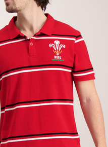 Welsh Rugby Union Red Polo Shirt