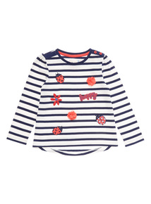 Navy Striped Ladybird Top (9 months - 6 years)