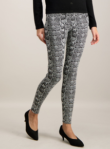 Grey Snake Print Leggings