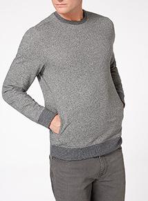 Grey Fabric Interest Jumper