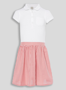 Red Gingham School Dress (3-12 years)
