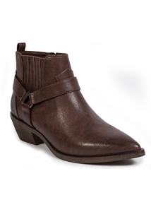 Brown Western Ankle Boots