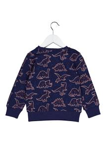 Purple Dinosaur Constellation Crew Neck Sweatshirt (9 months-6 years)