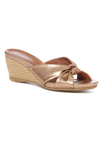 Gold Knot Detail Wedges