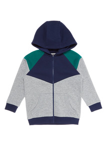 Boys Navy Active Panelled Hoodie (9 months - 6 years)