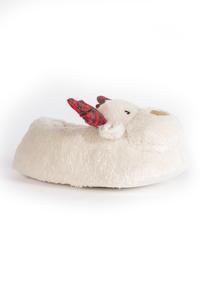 Cream Rudolph Slippers