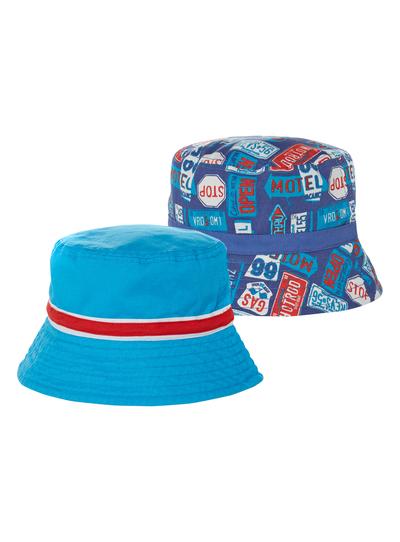 Kids Boys Multi Printed Bucket Hats 2 Pack (1-12 years)  3381a4bb88b