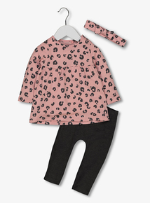 Pink Leopard Top & Leggings Set (0-24 months)