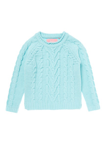 Green Mint Cable Jumper (9 months-6 years)