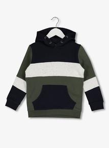 Multicoloured Block Stripe Hoodie (3-14 years)