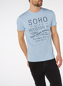 Blue Graphic Tee