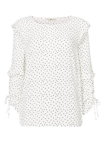 Monochrome Spot Blouse